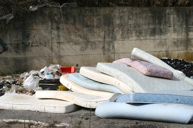 Abandoned Mattresses in Cities